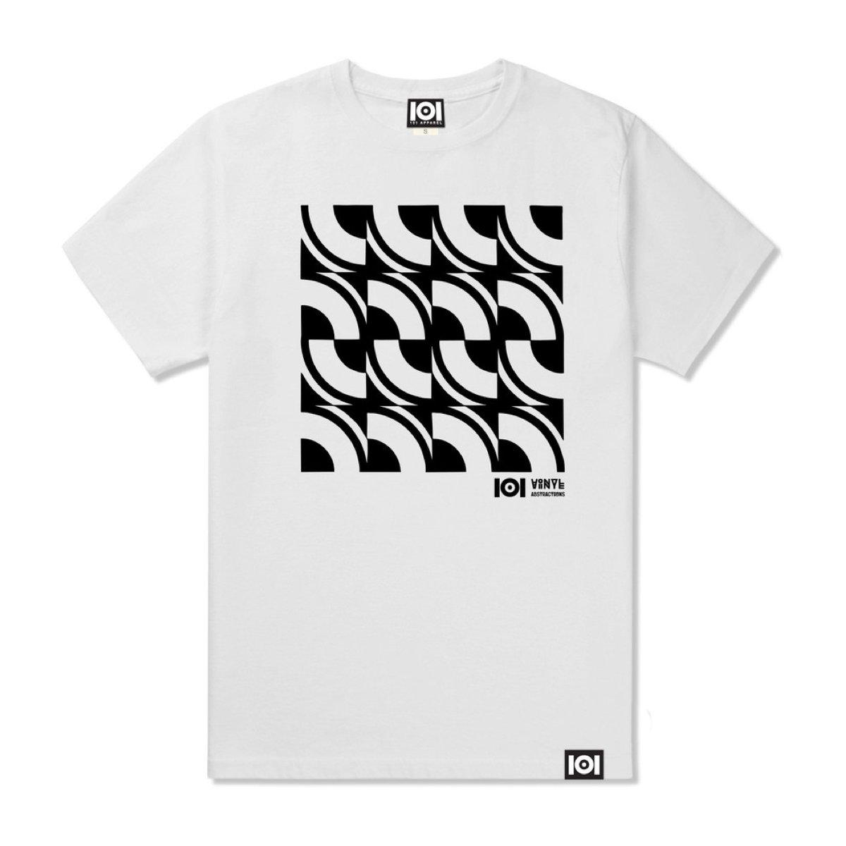 101 Apparel Vinyl Abstractions 4 White T Shirt Medium Size