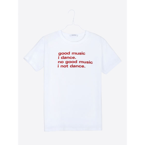 Airbag Craftworks Good Music I Dance T Shirt White Red